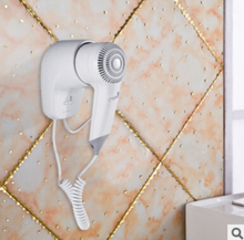 2016 New Hot selling 1200W Security Wall Mounted Hair Dryer with EU plug Electric Blower for hotel or household with EU plug(China)
