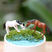Horse Animal Miniature Fairy Garden Home Houses Decoration Mini Craft Micro Landscaping Decor DIY Accessories(China)