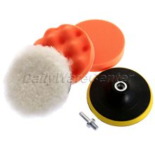 5Pcs 5inch 125mm Polish Car Sponge Buffing Polishing Pad Kit For Car Polisher +M10 Drill Adapter Wash Car Clean Care Car-Styling