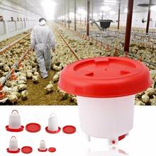1PC 2.5L Chicken Feeder Drinker Kettle Poultry Chick Hen Quail Bantam Food Water Harm Home Chick Drinking Tool High Quality C42(China)