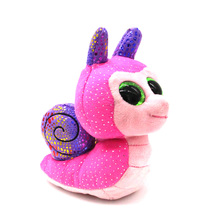 "Ty Beanie Boos Big Eyes 6"" Plush Snail with Sparkling Sequins Animal Toys"