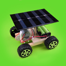 DIY manual assembly materials Solar power drive vehicle technology to make scientific invention of physics experiment