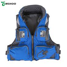 Size L XL XXL Professional Fishing Polyester Adult Safety Life Jacket Survival Vest Swimming Boating Drifting