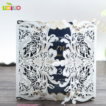 souvenirs for wedding guests gate lace invitations modern discount informal wedding invitation wording(China)