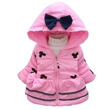 New 2017 Girls Winter Coat & Outwear,Kids Korean Minnie Mouse Cotton Jacket & Coat,Baby Girls Full sleeve Jacket Free shipping