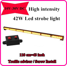 High quality DC12V,110cm,42W led Strobe warning lights,emergency light bar for police ambulance fire truck,waterproof