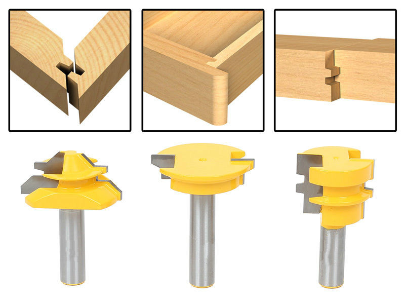 New Jointing Router Bit Set -Lock Miter/Glue Joint/ Drawer Front 3pcs router bits for wood/milling tools/wood milling  cutter<br>