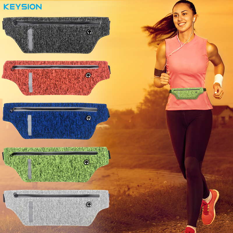 KEYSION 5.8'' Universal Waterproof Running Sport Belt Bag Pouch iPhone 6 6s 7 Plus Samsung Galaxy S8 S7 Egde Phone Bags Case