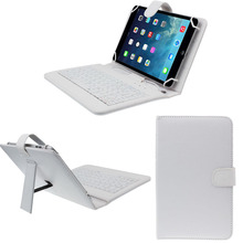 High quality Mini New 7 inch Universal Leather Case Cover with Micro USB Keyboard For Tablet PC WH(China)