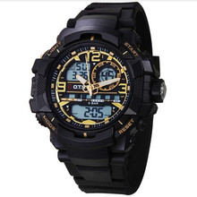 Mens sports Watches Luxury Brand OTS Digital Quartz 50m Outdoor Waterproof Multifunction LED Military Watch relogio masculino(China)