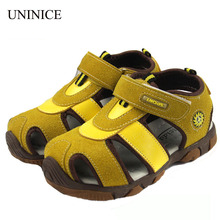 Buy 2018 Summer Children's Sandals Boys Shoes Sandals Baby Nubuck Leather Shoes Children Beach Shoes Sandals Kids Breathable Shoes for $14.13 in AliExpress store