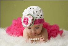 2pcs Hat+skirt European Girls Pro Photography Handmade Knitted Newborn Infant Clothing Clothes Baby Set