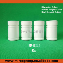 100+2pcs 30ml 30cc 30g HDPE White Empty Pharmaceutical Capsule Container Plastic Pill bottles with Screw Caps & aluminum Sealers