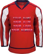 Custom Your ICE Hockey Jerseys Any logo/Name/Number White/Red Sewn On XXS-6XL Embroidery Jersey Wholesale China Free Shipping