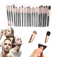 20pcs/set Women Professional Makeup Brushes Set Foundation Eyeshadow Nose Lip Brush 2017 New Cosmetic Make up Tool Kit