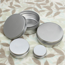 Top Quality 10pcs 50ml Empty Aluminium Cosmetic Pot Lip Balm Jar Tin Containers Screw Lid For Cream Ointment Hand Cream Storage(China)