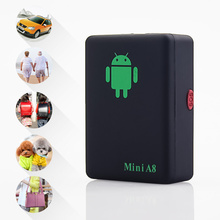 Mini A8  Newest GPRS Tracker Locator Real Time Car Kids Pets older GSM/GPRS/LBS Tracking Power adapter High Quality