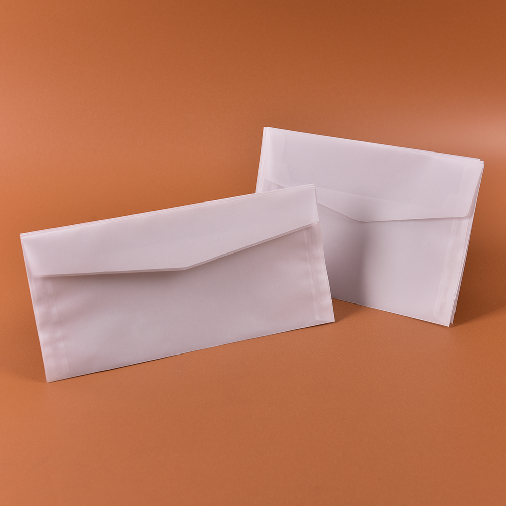 10 Pcs 17.5*12.5cm New Korea Vintage Blank Translucent Vellum Envelopes Diy Multifunction Ovely Gift Vegetable Parchment Mail & Shipping Supplies