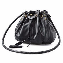 Women's handbags PU leather shoulder bag handbag wallet fashion women's solid color string tassels courier coin bag(China)