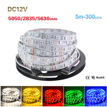 RGB Led Strip 5050 5630 2835 Not Waterproof 5M 60Led/M Led Strip Light DC 12V Fita Led String Stripe Bar Neon Bombillas Led Lamp(China)
