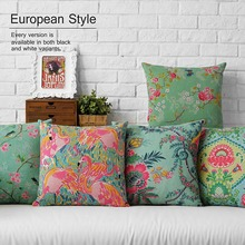 Southeast Asia Japanese national wind restoring ancient ways pattern cotton pillowcase 45 * 45 automobile cushion No Inner