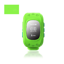 Free Shipping Smallest Smart Dual GPS GSM Position Tracker Watch With Blue Red Green Colors MIC SOS Alarm For Child Security