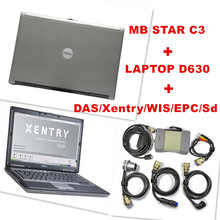 2015 Best for Mercedes Benz Diagnosis MB Star C3 Multiplexer Scanner Tool + XENTRY Software HDD + dell d630 Laptop Free Shipping