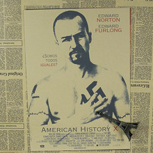 American history X Edward Norton movie star draw bar living room decorative painting Kraft Poster retro poster 30x21cm(China)