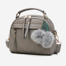 New Fashion Women Handbag PU Leather Shoulder Bag Casual Cross Body Bags Totes with Ball Popular(China)