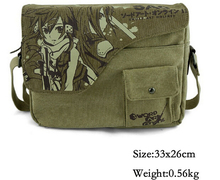 Anime Sword Art Online GGO SAO Sinon Canvas Messenger Bag Shoulder Bag Satchel