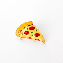 simulate pizza pins and brooches Food plant Enamel Pin red yellow broches bag hat jewelry Children Girls Clothing Accessories
