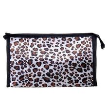 Xiniu Cosmetic Bag 2016 Fashion Women Leopard Makeup Bag Handbag Travel Multi-Function Mini Storage Bags #2354(China)