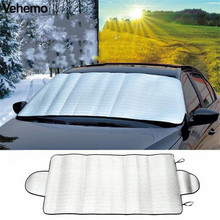 Vehemo Car Windshield Cover Protector Window Foils Windshield Sun Visor Cover Multi-purpose Car Windshield Anti Snow Shade(China)