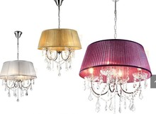Specialty light fashion pastoral light crystal light purple silver gold color can choose plating CRYSTAL pendant lights