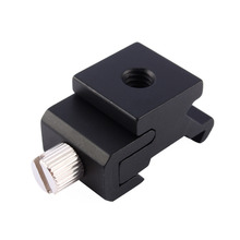Cold Shoe Hot Shoe To 1/4 Thread Screw Flash Bracket Mount Adapter Trigger