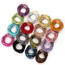 50 Pcs/lot 2mm Thickness Glitter Small Elastic Hair ties little Girls' Candy Color Ponytail Holder Kids Ponies Accessories(China)