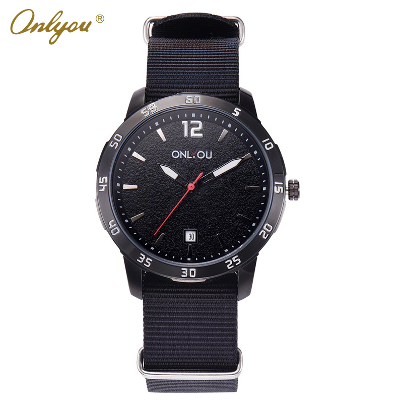 Onlyou Brand Sport Watches For Men Quartz Wristwatches Nylon Strap Reloj Hombre Relogio Masculino Esportivo Male Clock 85006<br>