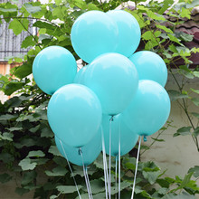 Wedding Decoration Balloons Tiffany Blue Latex 50 Pcs 12 inch Air Balls Happy Birthday Party Helium Inflatable Ballons Kids 2.2g
