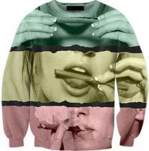 Harajuku Tumblr Hoodies Girl Smoking Weed Crewneck Sweatshirt 3D Print Tops fashion Sweats Women Men jumper outfits pullover