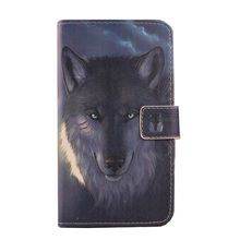 ABCTen  Fashion Pop PU Skin Painted Leather Cover Book Design Wallet Bags Mobile Phone Holster For Doogee Y6 Max 6.5''