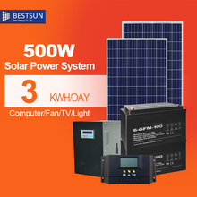 Bestsun  500w 2000w solar power off grid system kit with high configuration high quality 500w solar generator  with battery