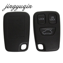 jingyuqin 3 Button Remote Fob Car Key Shell for Volvo S70 V70 C70 S40 V40 XC90 XC70 Replacement Uncut Blade Car Key Case(China)