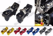 Motorcycle Parts CNC Aluminum Chain Adjusters For 2013 2014 2015 2016 Yamaha MT-07 MT07 FZ-07 FZ07