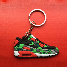 Cute Mini Silicone Airer 90 Key Chain Bag Charm Woman Key Ring Gift Sneaker Key Holder Pendant Accessories Jordan Shoes Keychain(China)