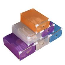 1PC Foldable Clear Plastic Shoe Box Drawer Stackable Storage Organiser Non-toxic Box 2AU4(China)