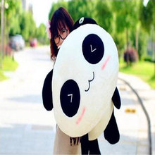 New Manufacturers selling dolls cute black and white smile Lie prone on the panda 35cm large Plush toys wholesale(China)