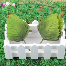 Modern Design The Best Price 288Pcs 70x50mm Artificial Leaf Green Leaves Bouquets Garland Wreath Home Garden Decor