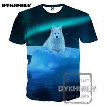Dykhmily 2017 New 3d Cat T Shirt Printed Animal T-shirt Glacier White Wolf Clothing Harajuku Tee Shirt Casual Unisex 3d T Shirt