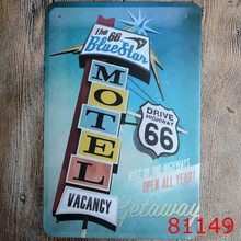 Motel Vacancy Vintage Metal  Signs  Tin Plate Sign Wall Decoration for Cafe Bar Shop and Restaurant  8x12 Inch