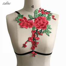 Sexy Pastel Goth Lingerie Harness Bra Floral Embroidery  Cage Bondage Harness Belt For Women Party Carnival Wear Body Femme